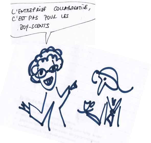 collaborative et Vision partagée ; pas pour les boys scouts