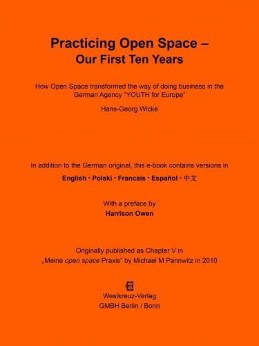 Livre Jugend für Europa 10 Jahre open space Praxis Hans-Georg Wicke & Michael M Pannwitz