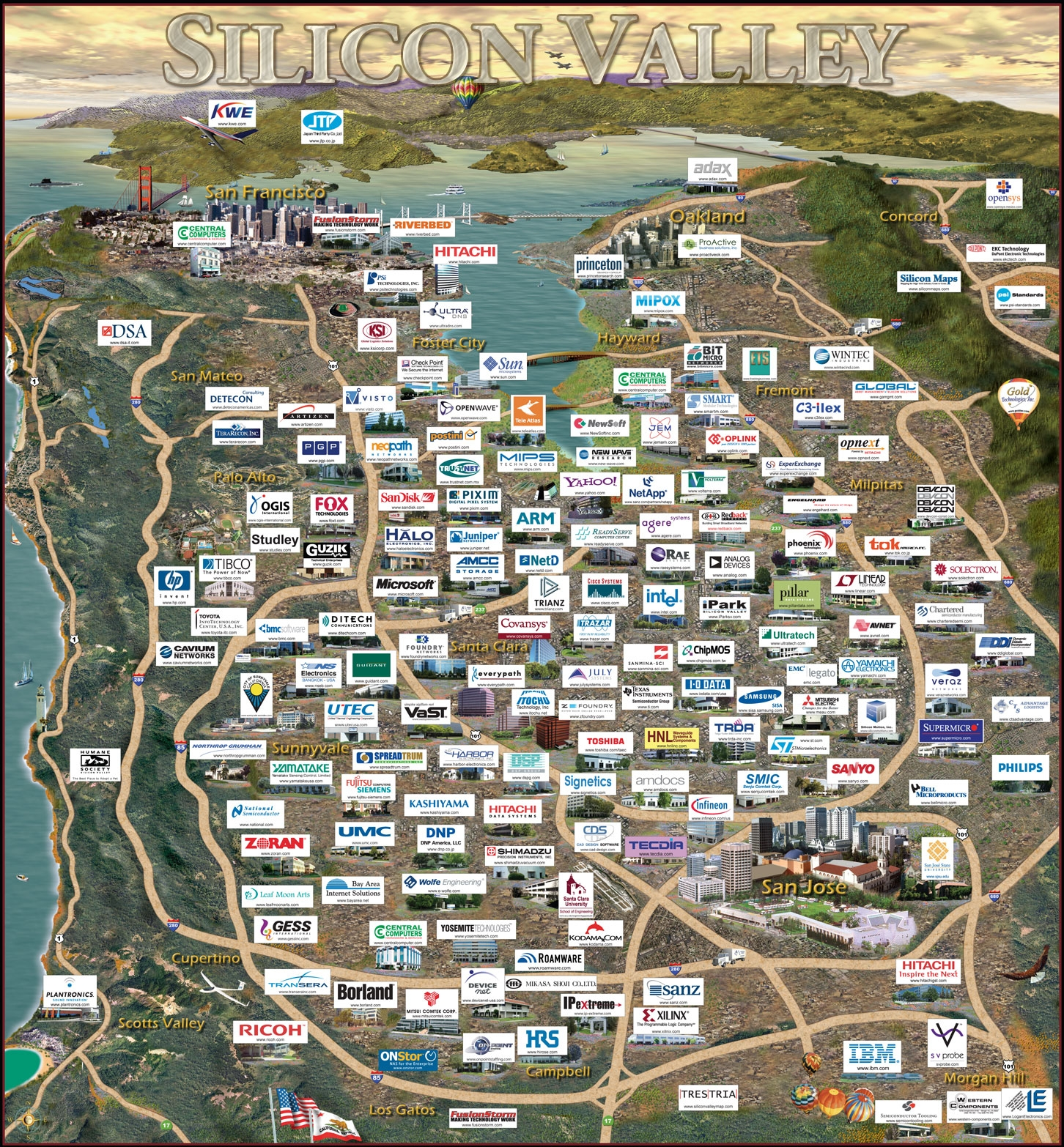 Silicon Valley exemple d'Emergence