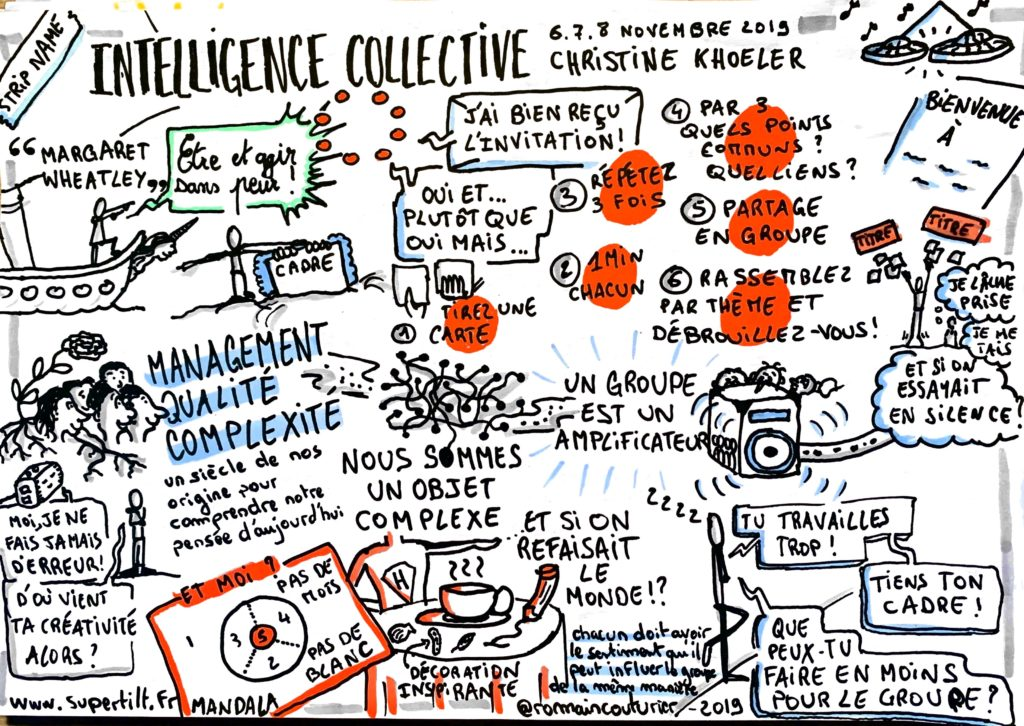 Formation Faciliter en intelligence Collective : Sketchnote complexité
