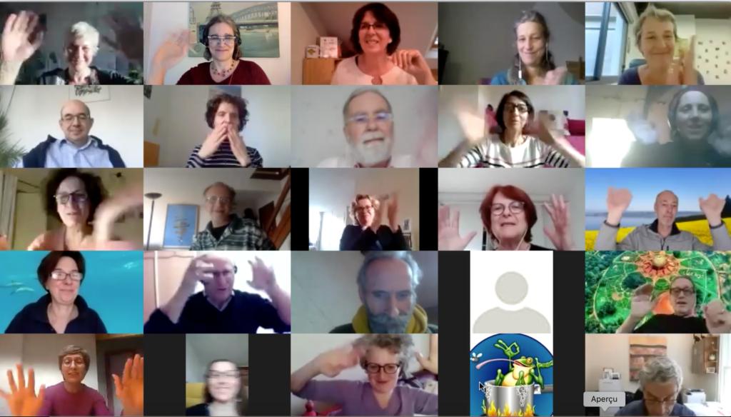 Bulle de dialogue photo participants